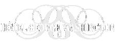 White logo text